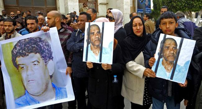 Libya Protesters Demand ReleaseOf Gaddafi-Era Spy Chief