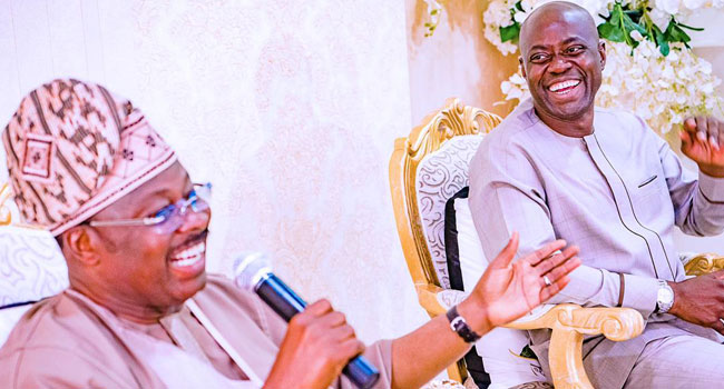 PHOTOS: Ajimobi Receives Oyo Governor-Elect Makinde, PDP Members