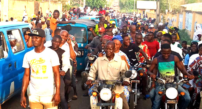 Osun Election: Jubilation As Adeleke's Supporters Flood Osun Streets