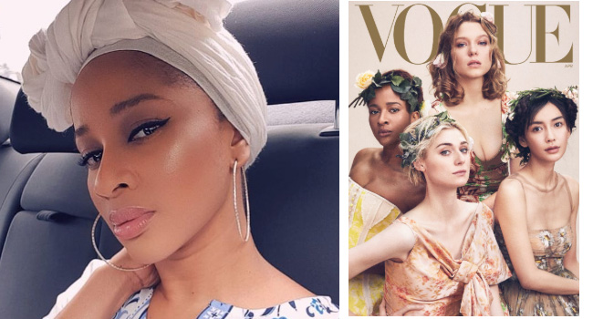 Fans Wowed As New Vogue Issue Features Adesua Etomi