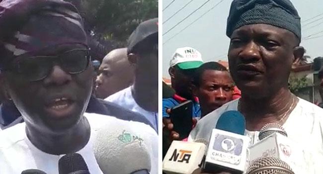 #LagosDecides2019: Agbaje, Sanwo-Olu Vote In Lagos, Urge Electorate To Come Out