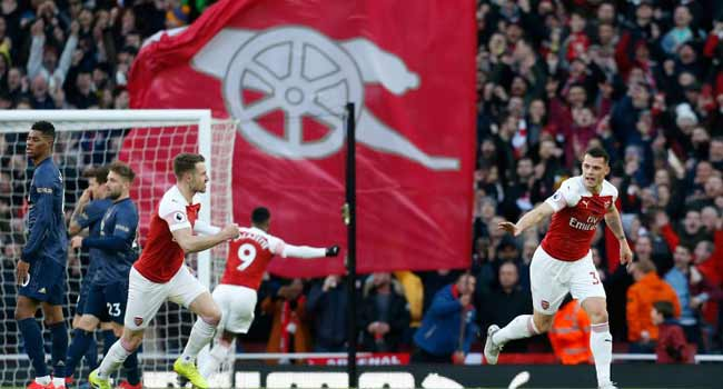 Arsenal Inflict First Domestic Defeat On Solskjaer To Surge Into Top Four