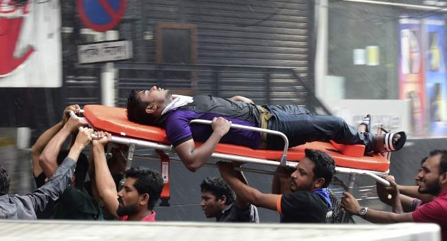 Workers Jump To Their Deaths As Dhaka Office Block Fire Kills 19