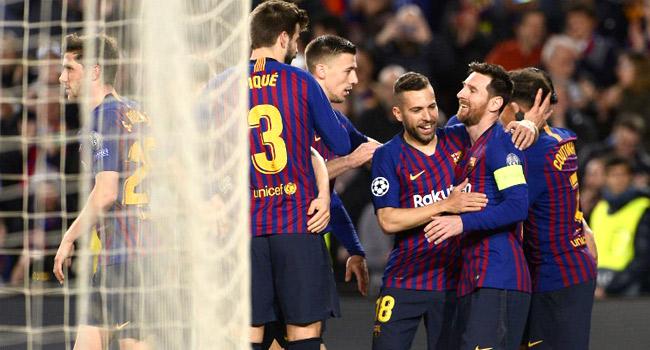 BREAKING: Barcelona Thrash Lyon In Champions League Last 16