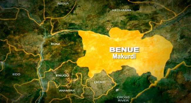 A photo showing the map of Benue, a state in North-Central Nigeria.