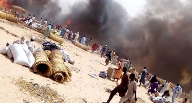 Several Reported Dead As Fire Guts Borno IDP Camp