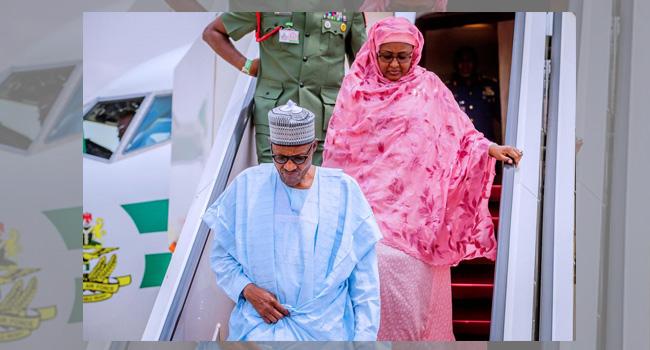 Buhari Arrives In Abuja From Daura