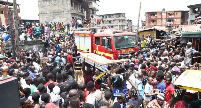 Lagos Building Collapse: Atiku, Saraki Condole With Victims' Families