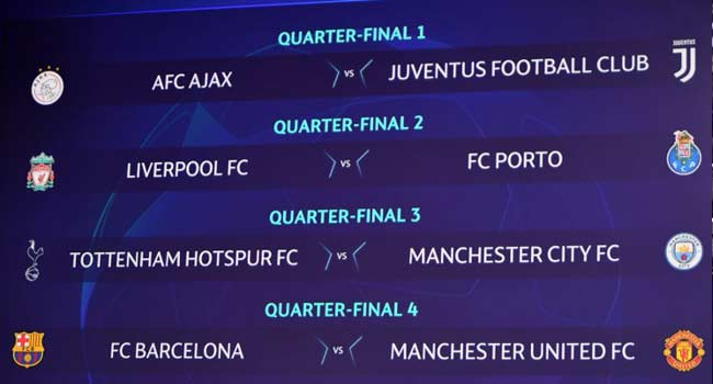United Face Barca In Champions League Quarter-Final