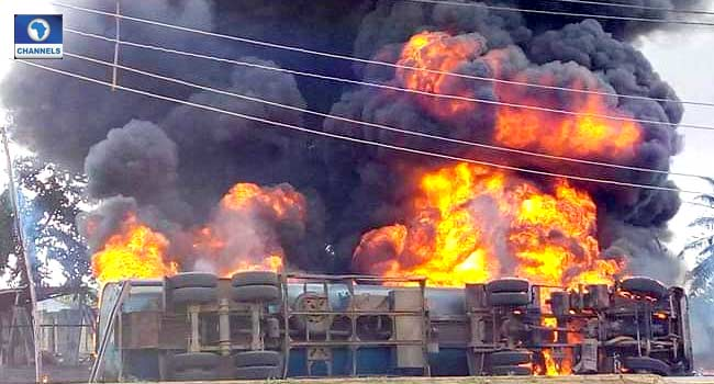 Three Injured, Motorcycles Burnt As Tanker Explodes In Ekiti