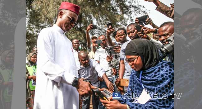 El-Rufai Votes In Kaduna