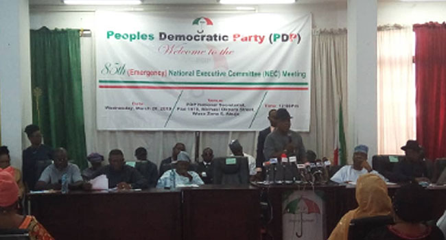 Supplementary Elections: PDP Holds Emergency NEC Meeting