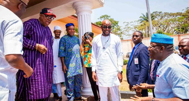 VIDEO: Fayemi Meets With Alao-Akala Over Oyo Elections