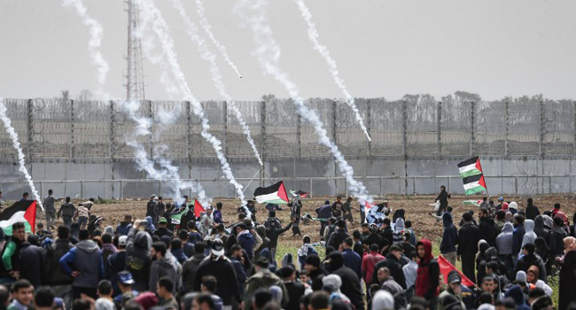 Thousands Gather At Gaza-Israel Border On Anniversary In Test Of Truce