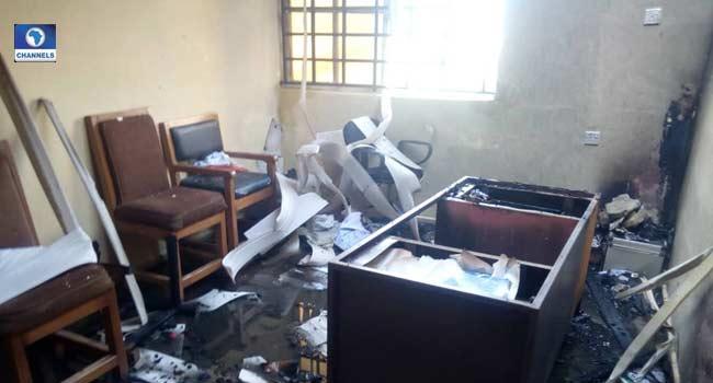Fire Engulfs INEC Office In Akwa Ibom