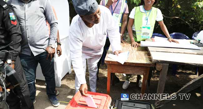 Lagos PDP Governorship Candidate, Jimi Agbaje Votes