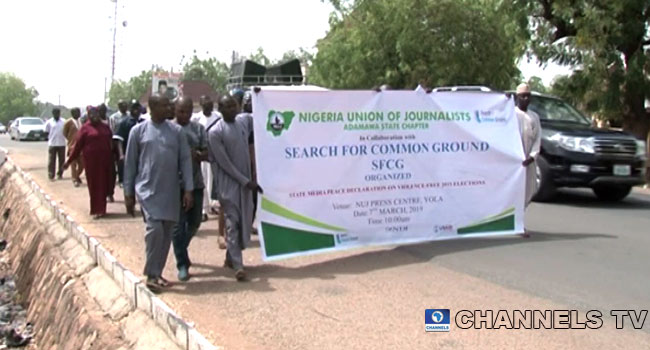 Journalists Campaign Against Violence In Adamawa