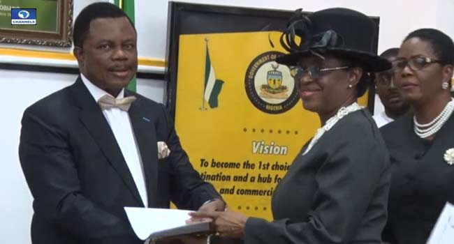 Obiano Swears In Anambra's First Female Chief Judge