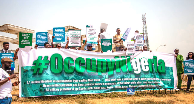 Occupy Nigeria Members Protest Against 'Electoral Anomalies'