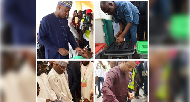 PHOTOS: Prominent Nigerians Take To The Polls