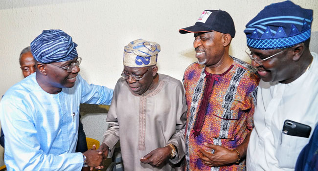 PHOTOS: Tinubu, Osinbajo Others Jubilate With Sanwo-olu After Victory