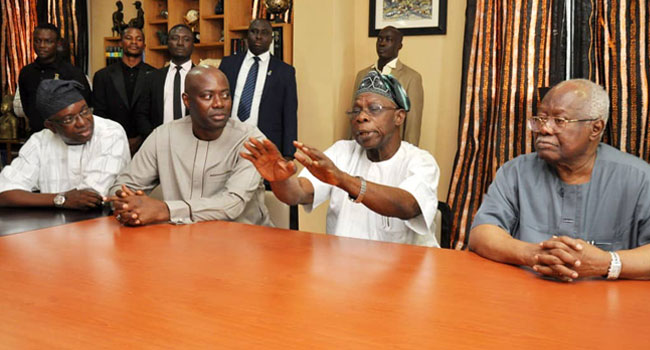 'Don't Steal, Settle Your Rift Amicably,' Obasanjo Tells Makinde