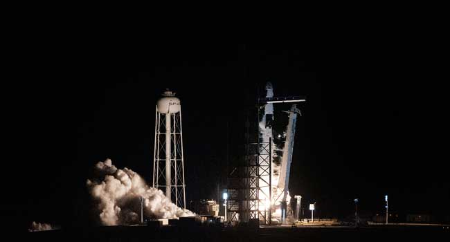 New SpaceX astronaut capsule successfully launched on ISS test mission