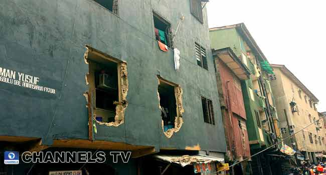 PHOTOS: State Govt Commences Demolition Of Marked Buildings In Lagos Island