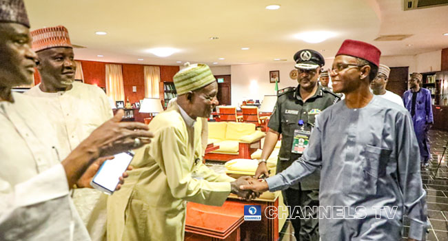 PHOTOS: El-Rufai Celebrates Victory With Supporters At Govt House