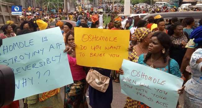 Imo Women Protest Okorocha's Suspension, Demand Oshiomhole's Resignation