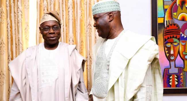 Atiku Praises Obasanjo On His Birthday