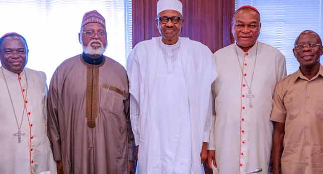 National Peace Committee Meets With Buhari In Abuja