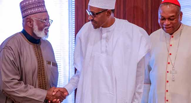 PHOTOS: National Peace Committee Meets With President Buhari