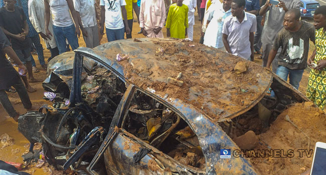 PHOTOS: Two Escape Death In Easter Day Accident