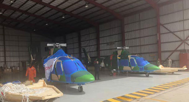 Insurgency War: NAF Takes Delivery Of Two New Helicopters