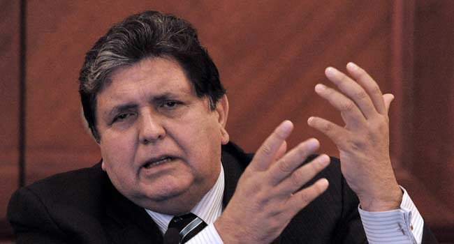 Peru Ex-President Garcia Shoots Himself While Resisting Arrest