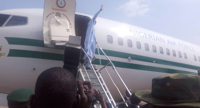 PHOTOS: President Buhari Departs Lagos After Projects Inauguration