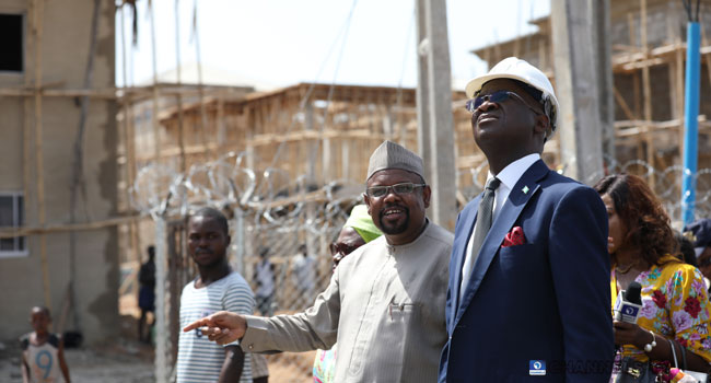 PHOTOS: Fashola Inspects Ongoing Housing Projects In Abuja