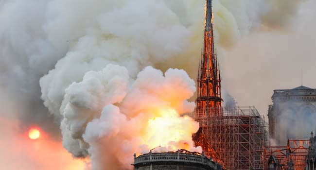 UNESCO Pledges To Support France In Saving, Restoring Notre-Dame Cathedral