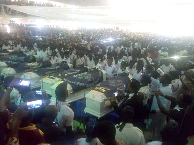 Gombe Burial5 - Victims Of Easter Attack : Slain Members Of Gombe Boys Brigade Buried Amid Tears
