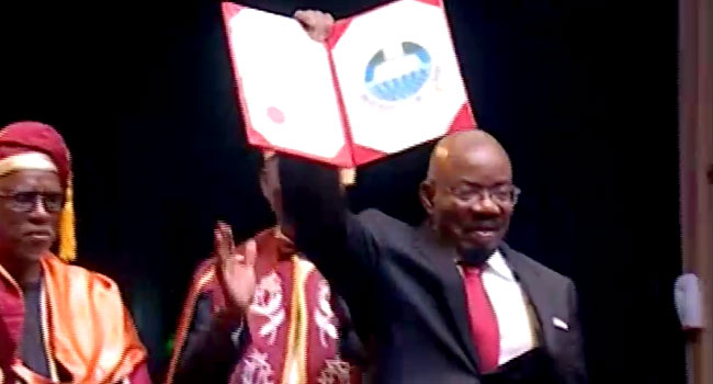 Jim Ovia Bags Honourary Doctorate Degree, Says Govt Cannot Improve Education Alone