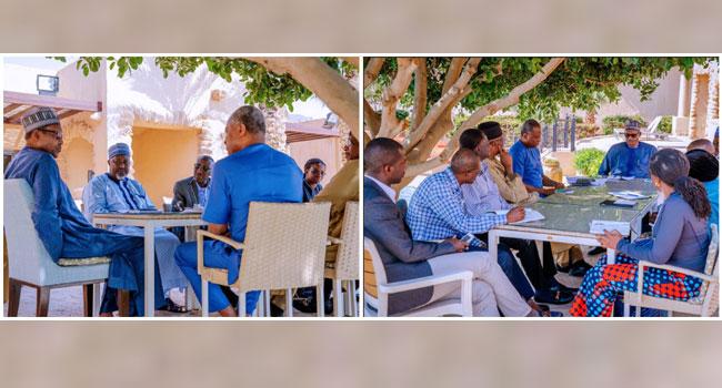 Buhari Prepares With His Team In Jordan Ahead Of World Economic Forum Participation