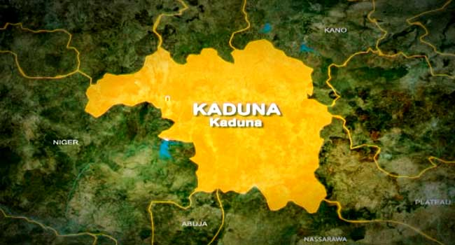 A map showing Kaduna, a state in Nigeria's North-Central region.