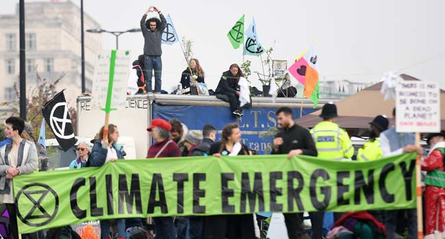 More Than 100 Arrested At London Climate Protests