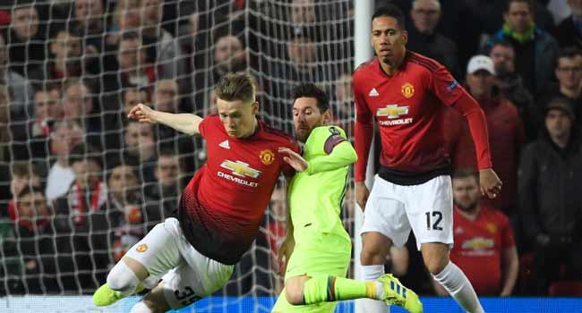 Barca Beat United In First Leg Of Champions League Quarter-Final