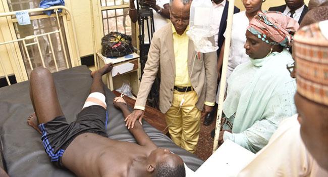 El-Rufai Visits DPO, Security Operatives Injured In Kasuwan Magani Violence
