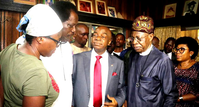 FG Condoles With Family Of Late National Theatre GM