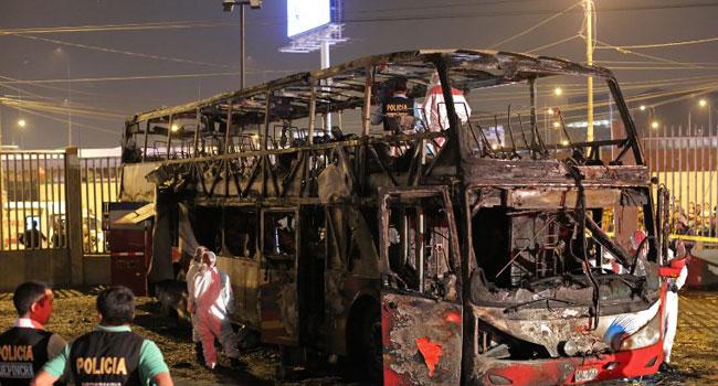 17 Killed In Peru Bus Fire