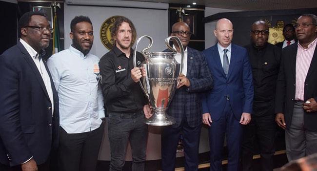 UEFA Champions League Trophy Arrives Lagos
