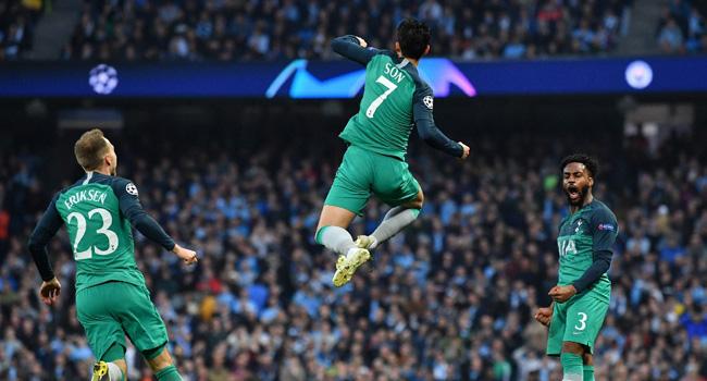 Tottenham Edge Man City In Thrilling Clash To Reach Champions League Semis